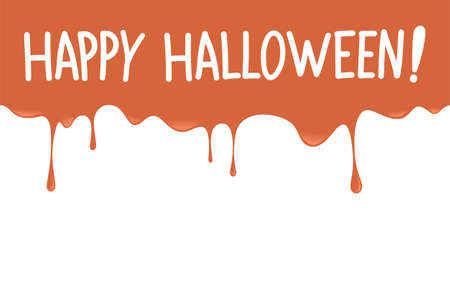 Happy halloween message with splash dripping background.Vector happy halloween illustration from halloween collection. Illustration