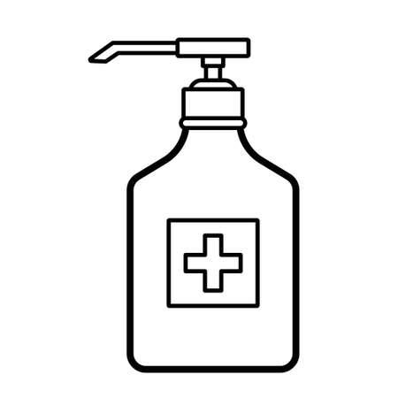 Vector liquid disinfection pump bottle icon. Illustration