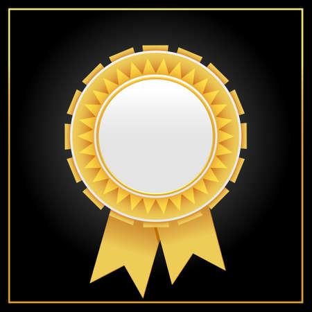 Vector luxury golden award badge.Golden rosette illustration from golden award rosette collection.