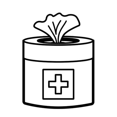 Vector medical wet wipes icon.