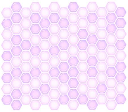 Purple honeycomb seamless pattern.Vector illustration of glossy purple honeycomb background. Illustration