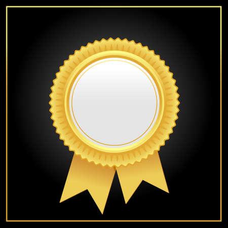 Vector luxury golden award rosette.Golden rosette illustration from golden award rosette collection.