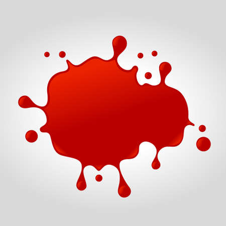 Red ketchup vector splash background.Vector red splash illustration from splash series.