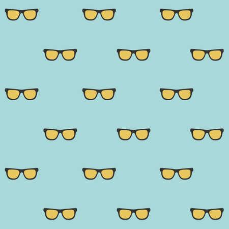 Summer sunglasses pattern.Vector illustration of sunglasses seamless pattern with summer concept.