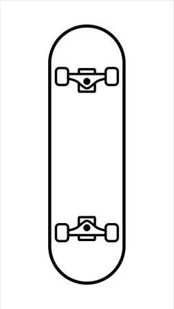 Skateboard icon in line art concept.Vector skateboard icon in line art concept from skateboard and longboard collection.
