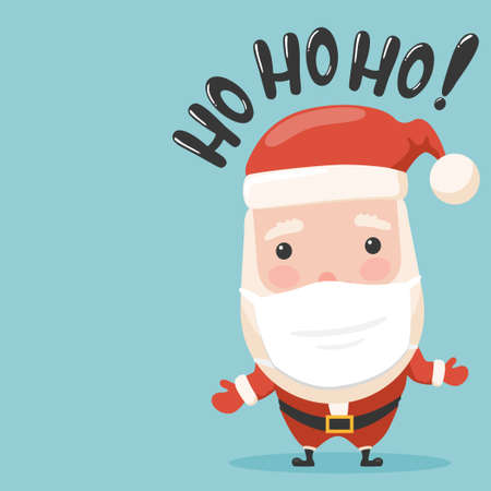 Santa cartoon with pandemic concept.Vector cartoon santa illustration from pandemic new year collection. Illustration