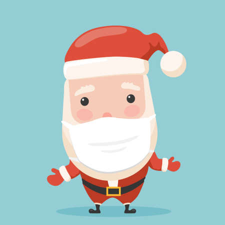 Vector cartoon santa illustration from pandemic new year collection.