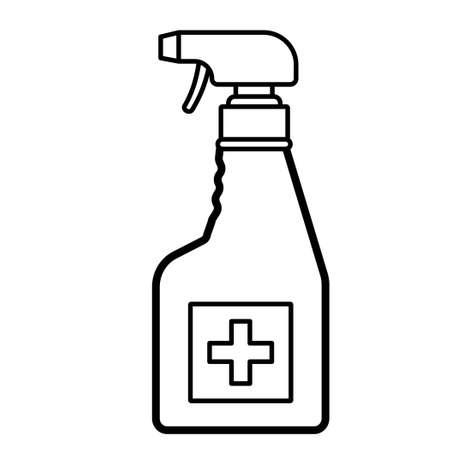 Vector spray disinfection bottle icon. Illustration