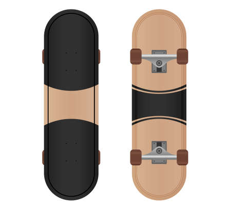 Vector skateboard design isolated on white background.Skateboard illustration from skateboard and longboard collection.