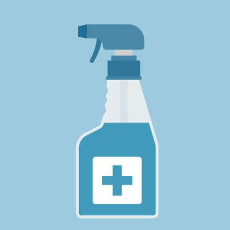 Vector disinfection spray for hygiene.Disinfectant illustration from hygiene collection.
