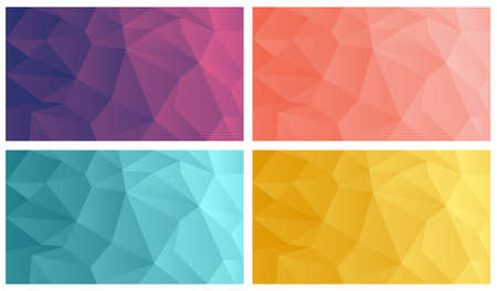 Vector polygonal wallpaper collection.Abstract polygonal background collection.