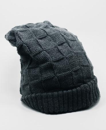 Dark gray hood isolated on white. Winter wear, no brand.