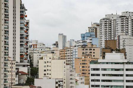 Buildings of Sao Paulo SP Brazil, residential buildings area.