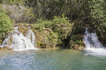 Small cascades of a river of Bonito MS, Brazil.