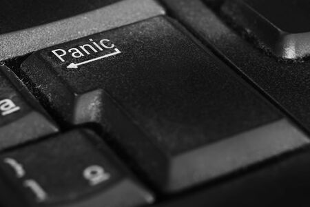 Panic button in place of the Enter key on the keyboard. Panic button for an emergency situation.