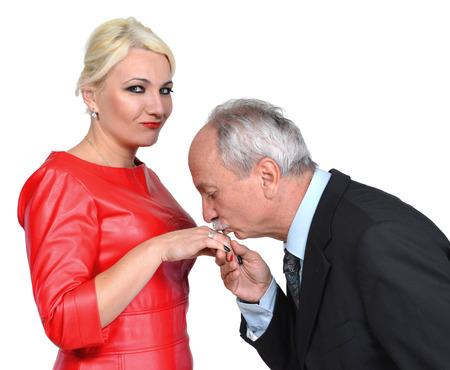 Man kissing Frau