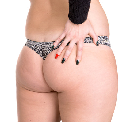 big ass:  Plus-size woman Stock Photo