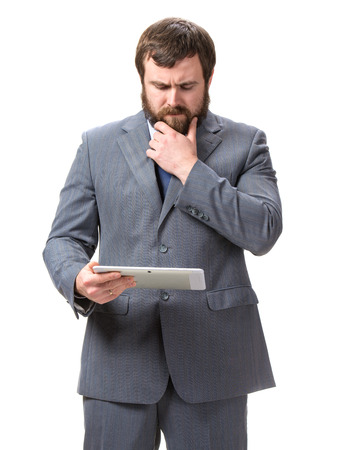 Businessman with tablet pc Stock Photo - 25025059