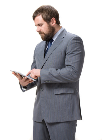 Businessman with tablet pc Stock Photo - 25025192
