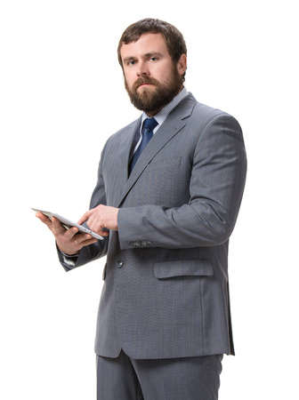 Businessman with tablet pc Stock Photo - 25025193