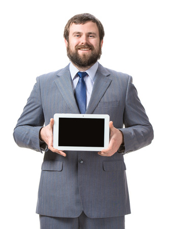 Businessman with tablet pc Stock Photo - 25025225