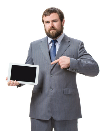 Businessman with tablet pc  Stock Photo - 25025228