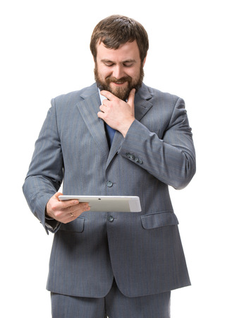 Businessman with tablet pc Stock Photo - 25025230