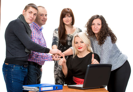 Business people working as a team at the office photo
