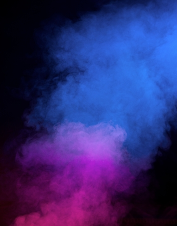 Abstract smoke on a dark  photo