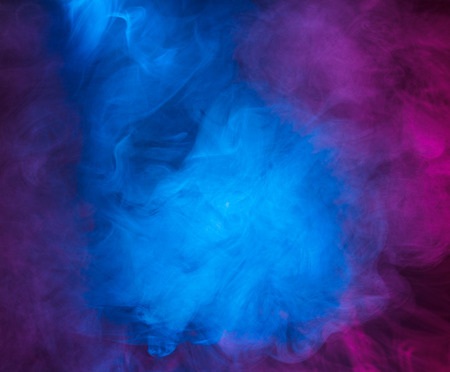 Abstract smoke on a dark background photo