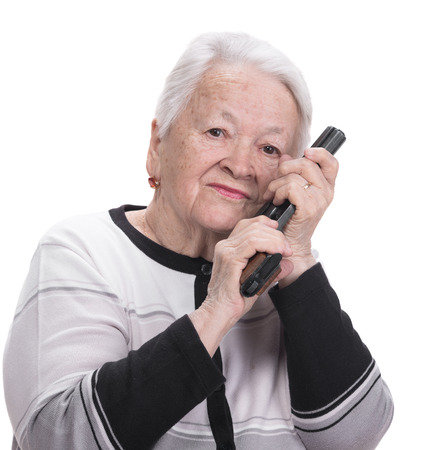 26692996-old-woman-with-pistol-on-a-whit