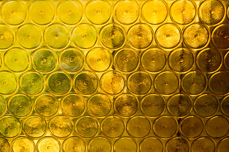 Yellow glass abstract background