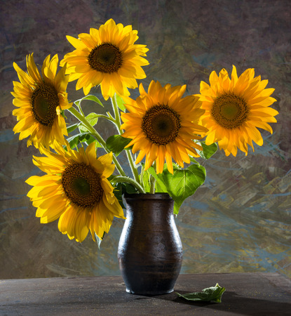 Beautiful sunflowers in a vase Stock fotó - 38973524