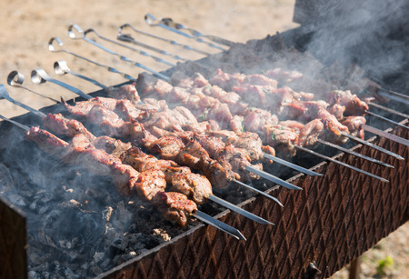 chargrill: Shish kebab of the pork with the mix of spices