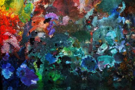 oilpaint: Background image of oil-paint palette. Closeup