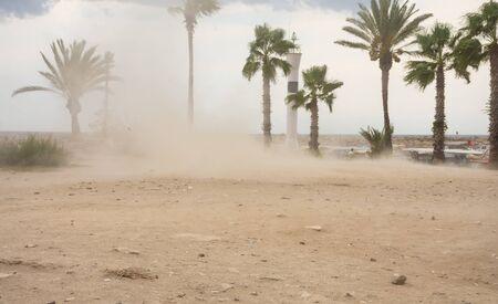 Strong winds blow a massive sandstorm in Turkey Фото со стока - 130806240