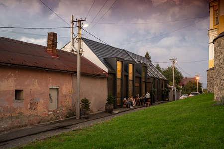 UZHHOROD, UKRAINE - OCTOBER 5, 2020: Streets and architecture of the old city of Uzhgorod in Ukraine.