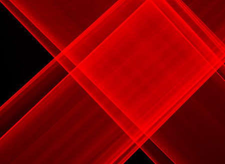 Abstract red lines drawn by light on a black background. Laser lines 免版税图像
