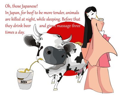 fact: Oh those Japanese - illustrated interesting fact about Japan.
