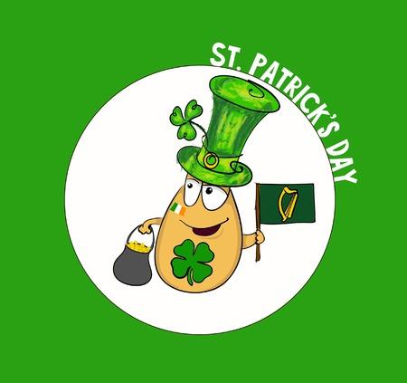 patrick's: Saint Patricks Day - leprechaun vector Illustration.