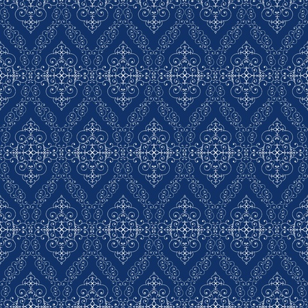 seamless abstract cyan ancient orient pattern  Vector