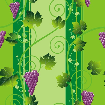 seamless abstract pink grape pattern on green background