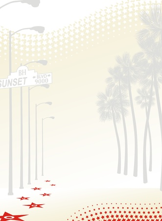 background sunset boulevard Vector