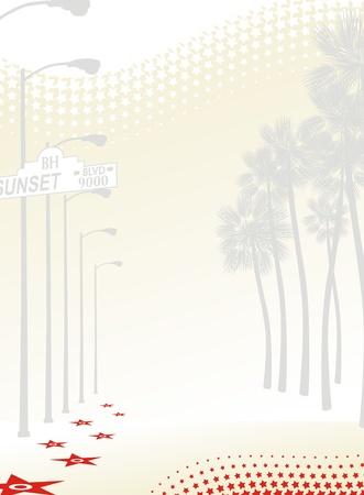 background sunset boulevard