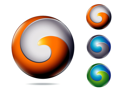 g: modern abstract business colorful icon as letter G or C