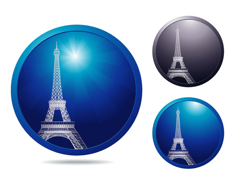 showplace: set of three icons with showplace Paris Illustration