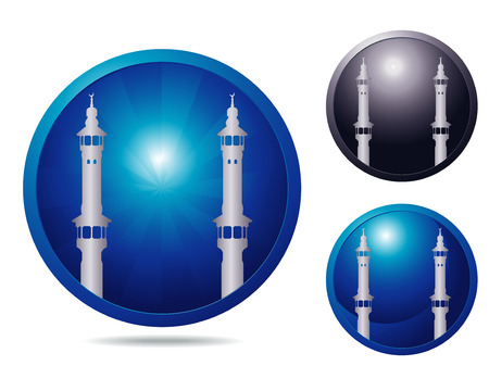 showplace: set of three icons with showplace Mecca