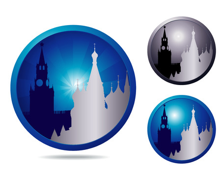 showplace: set of three icons with showplace Moscow
