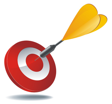 icon as red target with yellow dart arrow inside
