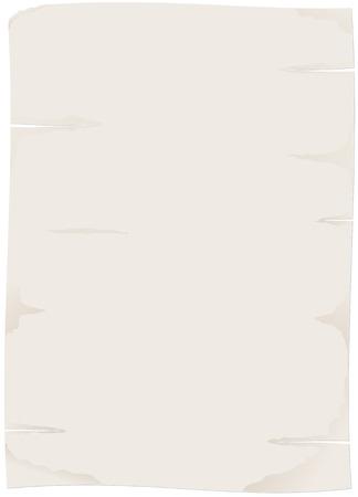 threadbare: foglio di carta o di papiro